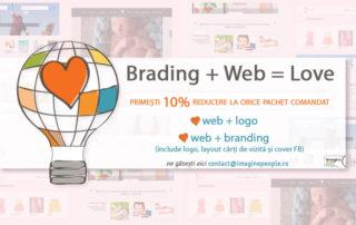 oferta de branding si web design cu reducere de 10 procente