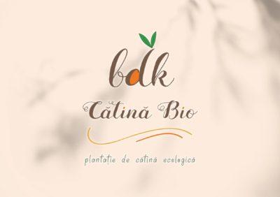logo vectorial personalizat pentru bdk catina bio